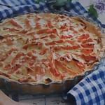 Пирог открытый с морковью