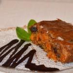 Пряный пирог, морковный
