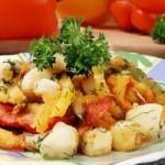 Салат из капусты и тыквы