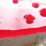 Творожный десерт с ягодным желе