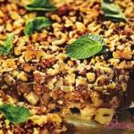 Геркулесовый пирог с инжиром и яблоками