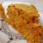 Пирог с морковью для детского завтрака