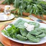 Равиоли творожные, со шпинатом