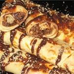 Блины венгерские с яблоком и шоколадным соусом