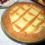 Слоёный пирог с творогом и цукатами