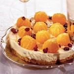 Творожный тортик с мандаринами