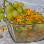 Морковно – виноградный салат с апельсинами