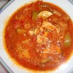 овощной суп с жареной треской