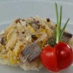 Салат из квашеной капусты, с сельдью