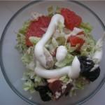 Салат из куриных грудок с черносливом
