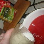 Каша из ржаной муки с ягодным соком