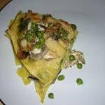Лазанья с зелёным горошком и рыбой