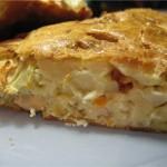 Пирог с начинкой из трески