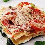 Лазанья с рыбой и творожно – шпинатным кремом (быстрого приготовления)