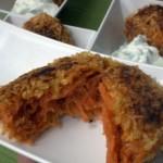 Морковные котлеты с соусом из шампиньонов