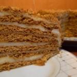 Торт медовый, с заварным кремом