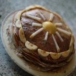 Блинный торт с грушами