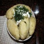 Картофельные клёцки с брынзой