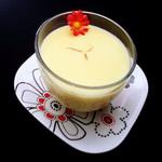 Кисель молочный с яичным желтком