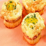 Горячие яичные бутерброды с ветчиной