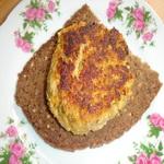 Закуска из котлет, на хлебе
