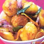 Картофель, запечённый на гусином жире, с апельсиновой цедрой
