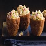 Картофель печенный, с сельдереем