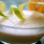Лимонный напиток со сметаной и чаем