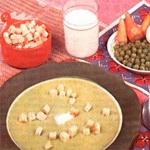 Суп – пюре из сахарной фасоли