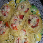 «Гнёздышки» с морепродуктами