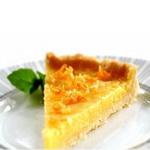 Лимонный пирог со сливочной помадкой