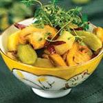 Салат из грибов и отварного картофеля