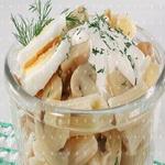 Салат из грибов с макаронами