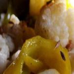 Салат из печеного перца с цветной капустой
