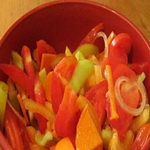 Венгерский салат из сладкого перца и помидоров