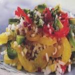 Рисовый салат со сладким перцем