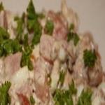 Рисовый салат с тунцом в томатном соусе
