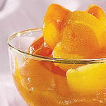 Салат из абрикосов, с ликёром