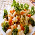 Салат из варёных овощей, по-французски
