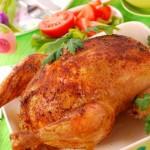 Пасхальная курица с запеченным рисом