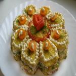 Бутерброды с ветчиной «Мозаика»