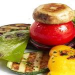 Кусочки овощей – гриль на вертеле