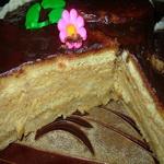 Торт заварной, с кремом и глазурью