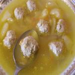 Геркулесовый суп с фрикадельками