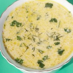 Овощной суп с плавленым сыром