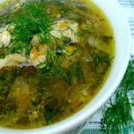 Сборный суп из свежего щавеля