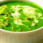 Суп из зелёного горошка, с ветчиной