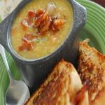 Суп с рулетами из судака