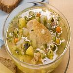Суп с уткой и молодыми кабачками