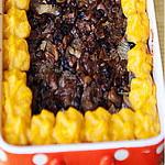 Мясо с картофельным пюре, в духовке